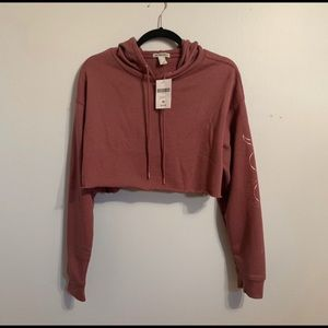 Mauve Active Cropped Hoodie Sweater
